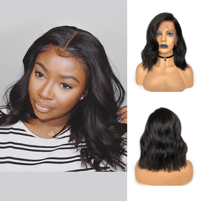 ISSA Glueless Pre-Made Fake Scalp Short Wavy Bob Lace Front Wig