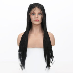 [NEW IN]100% Hand Made Glueless Braided Lace frontal Synthetic Wig