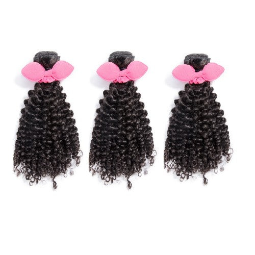 "【Platinum 8A】	14""-20"" 3 Bundles Jerry Curly Virgin Brazilian Hair Natural Black 300g"