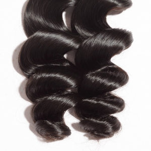 "【Platinum 8A】10""-30"" 4 Bundles Loose Wavy Virgin Brazilian Hair Natural Black 400g"