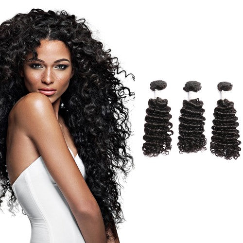 【Diamond 10A】	Diamond Virgin Hair Deep Curly 3Bundles