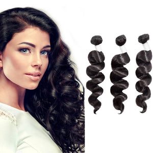 【Diamond 10A】	Diamond Virgin Hair Loose Wavy 3Bundles