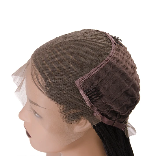 [Top Sale] 100% Hand Made Box Braided Lace Frontal Synthetic Wig