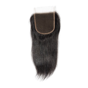 10-20 Inch Virgin Brazilian Hair Strainght 4*4 Free Part Lace Top Closure