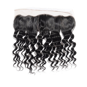 8-20 Inch Virgin Brazilian Hair Loose Wavy 13*4 Free Part Lace Top Closure