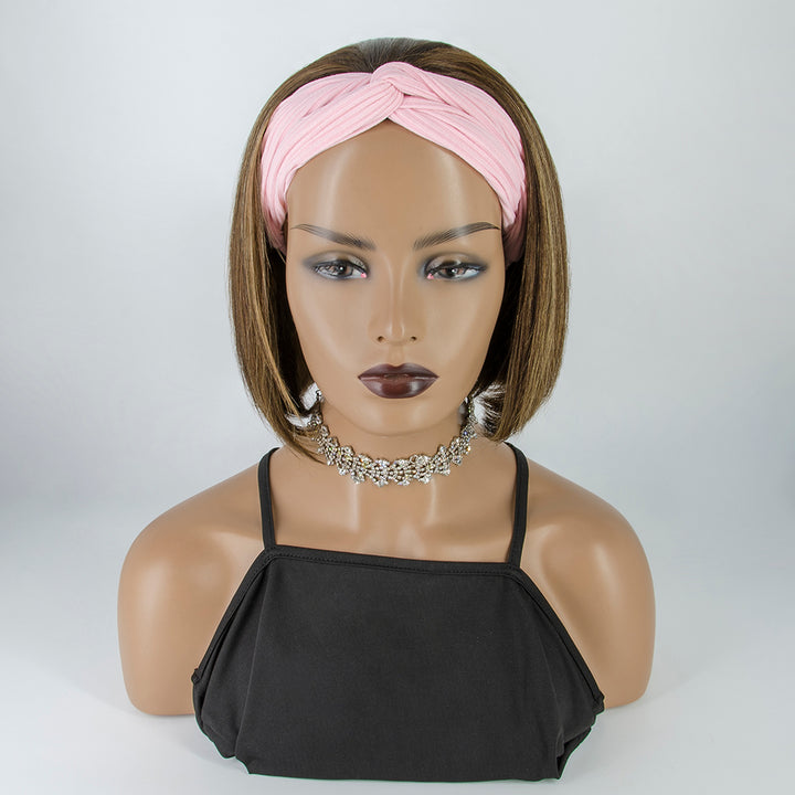 [Pre-sale] #4/27 Highlight Grab-N-Go Headband Wigs Straight Bob 100% Human Hair Wigs