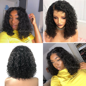 "13""x 6"" Undetectable Transparent Lace Brazilian Virgin Hair Lace Front Wigs"