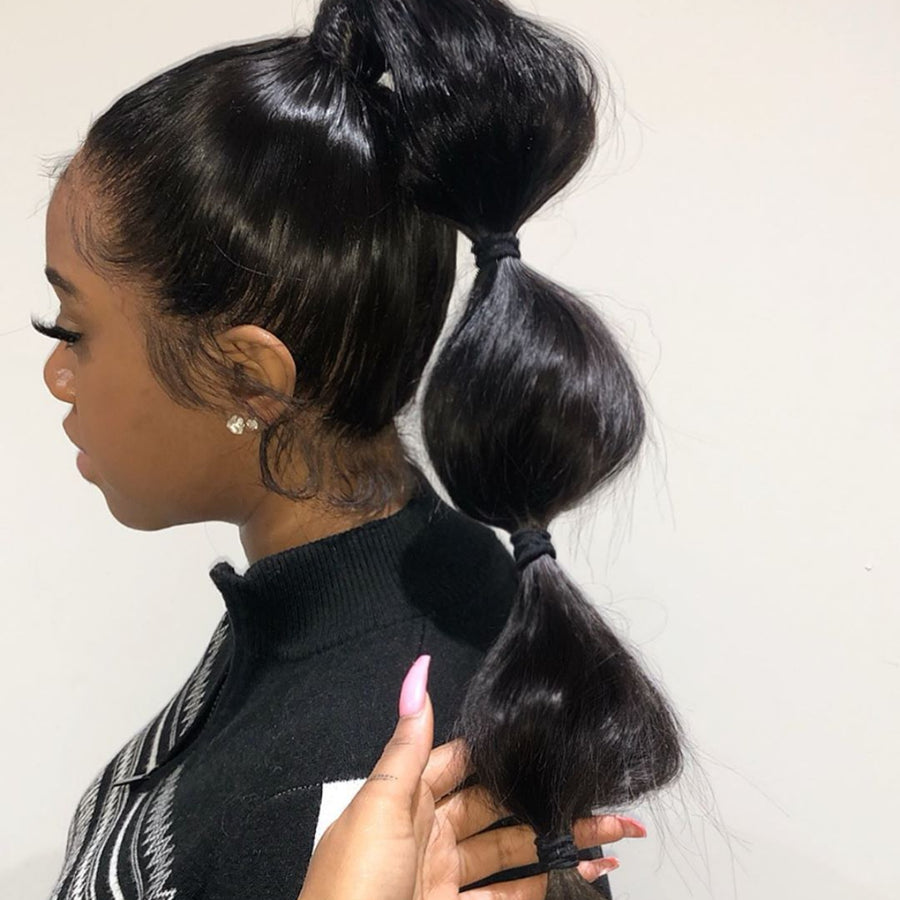 【NEW IN】 Bubble Ponytail Style Undetectable  Full Lace Wig
