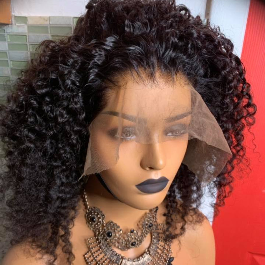 [NEW IN]Glueless Brazilian Kinky Curly Lace Frontal Wig