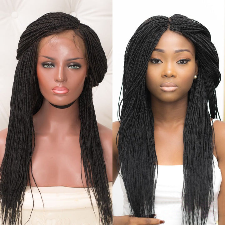 [NEW IN]100% Hand Made The Adaobi Small Sized Braids Lace Frontal Synthetic Wig