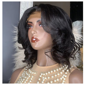 [NEW IN]12''  Vintage Body Wavy Bob Lace Wig