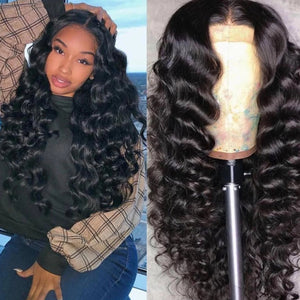 [NEW IN]Brazilian Loose Deep Wave Lace Front Human Hair Wigs