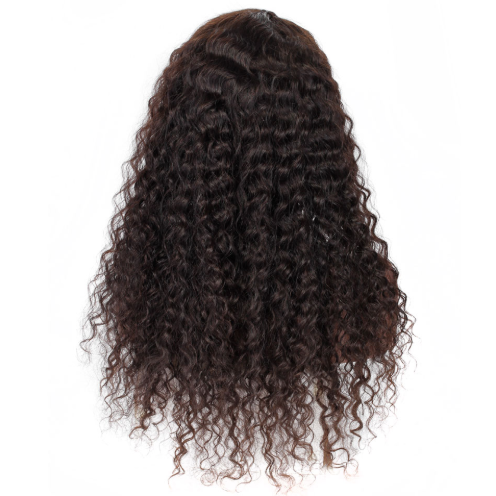 【Top Sale】Pre-Plucked 250% Italian Curly Brazilian Virgin Hair Deep Part 13x6 Lace Front Wigs
