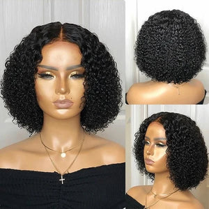 "【NEW IN】14"" 250% High Density Kinky Curly Bob Wigs"