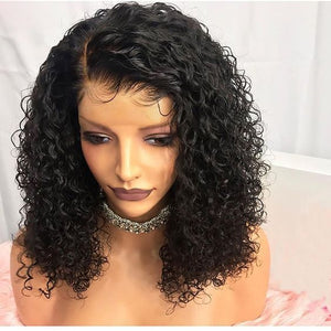 Undetectable Transparent Water Wavy Lace Brazilian Virgin Hair Lace Front Wigs