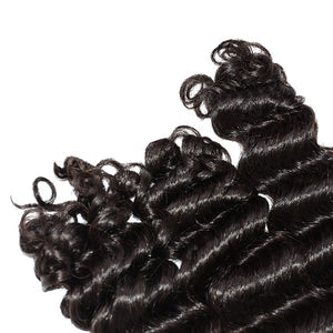 【Platinum 8A】4 Bundles Loose Deep Wavy Brazilian Virgin Hair