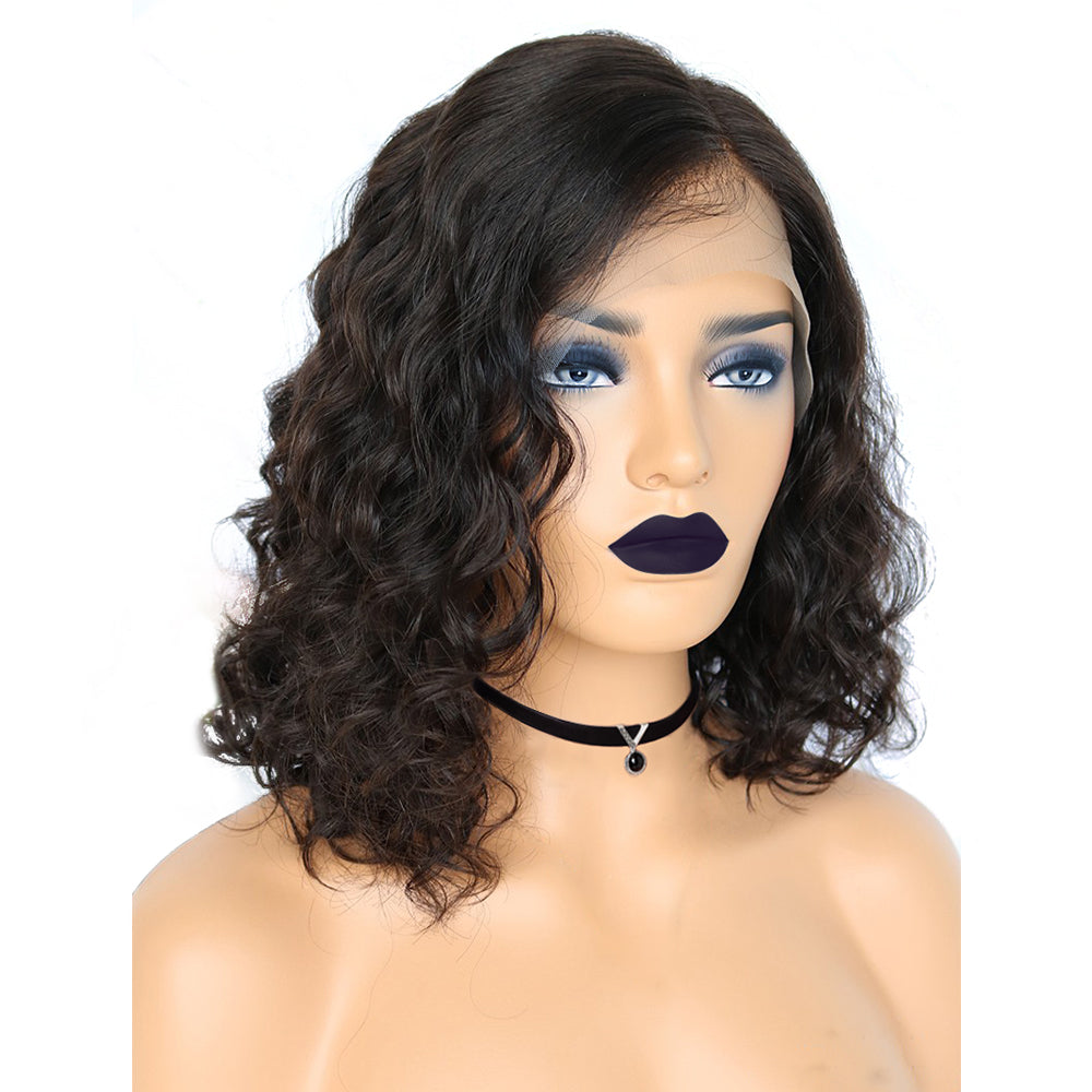 Easy Everyday Curly Messy Bob Wig Short Hair