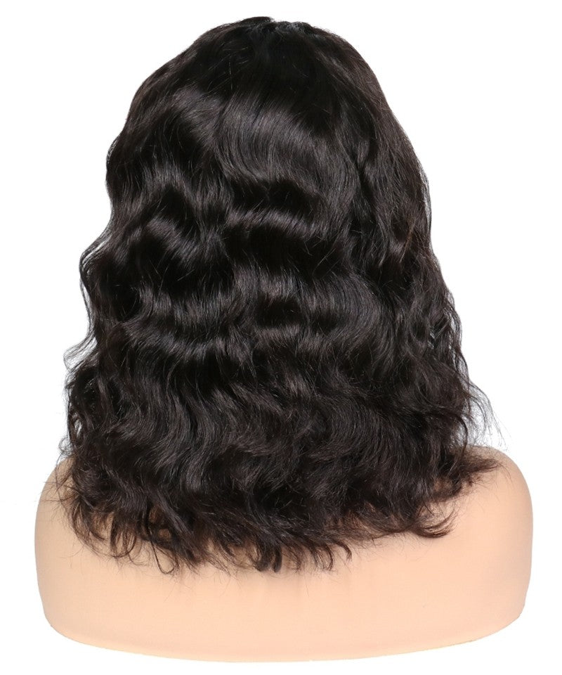 "Pre Bleached Knots 13""x 5"" Indian Human Hair Lace Front Wigs"