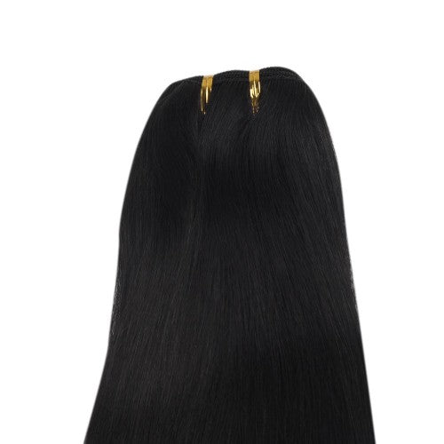 Buy 1 Get 1 Free Straight Brazilian Remy Hair #1 Jet Black