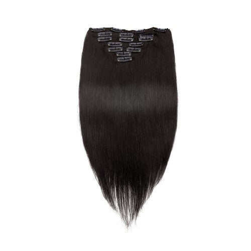 [Regular] 100g 18 Inch #1B Natural Black Straight Clip In Hair