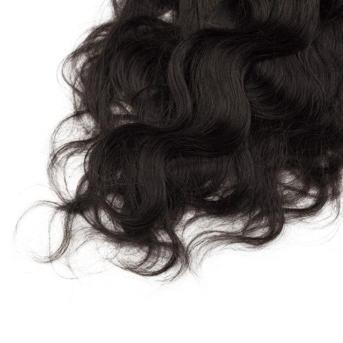 【Volumizer】	70g 16 Inch #1B Natural Black Body Wavy Clip In Hair
