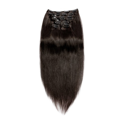 [Regular] 120g 18 Inch #1B Natural Black Straight Clip In Hair