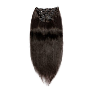 [Super Deluxe] 200g 22 Inch #1B Natural Black Straight Clip In Hair
