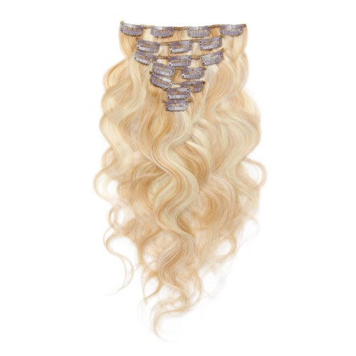 【Volumizer】	70g 16 Inch #27/613 Body Wavy Clip In Hair