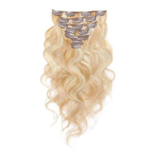 【Regular】	100g 18 Inch #27/613 Body Wavy Clip In Hair