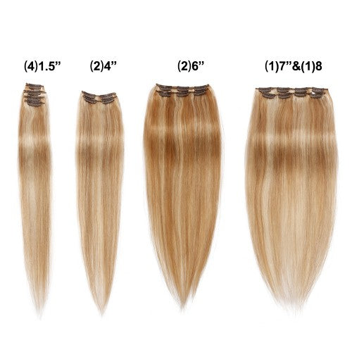 【Deluxe】	160g 20 Inch #27/613 Straight Clip In Hair