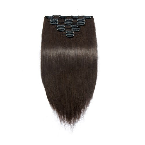 [Regular] 100g 18 Inch #2 Darkest Brown Straight Clip In Hair