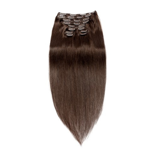 【Regular】	120g 18 Inch #2 Darkest Brown Straight Clip In Hair