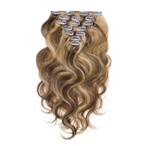 【Regular】	100g 18 Inch #4/27 Body Wavy Clip In Hair
