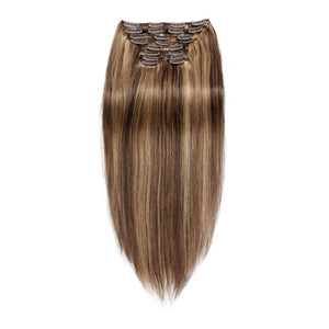 【Regular】	120g 18 Inch #4/27 Straight Clip In Hair