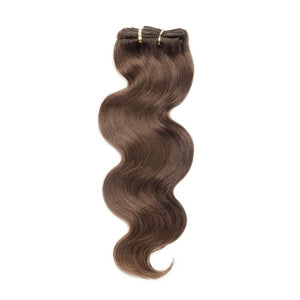 【Deluxe】	160g 20 Inch #4 Chocolate Brown Body Wavy Clip In Hair