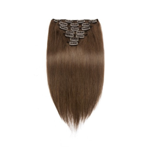 [Regular] 100g 18 Inch #4 Chocolate Brown Straight Clip In Hair