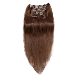 【Regular】	120g 18 Inch #4 Chocolate Brown Straight Clip In Hair