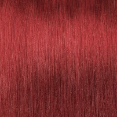 【Regular】	120g 18 Inch Red Straight Clip In Hair