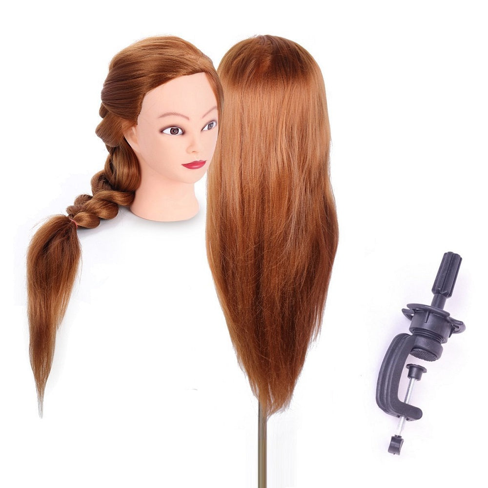 26inch Human Hair Hairdressing Cosmetology Mannequin with Clamp