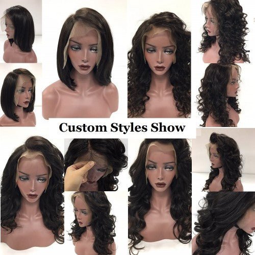 【Platinum 8A】3 Bundles Straight Brazilian Virgin Hair 300g With 13*4 Straight Free Part Lace Frontal