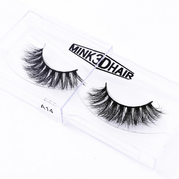 1Pair Luxury 3D Mink Fur False Eyelashes Extensions A14