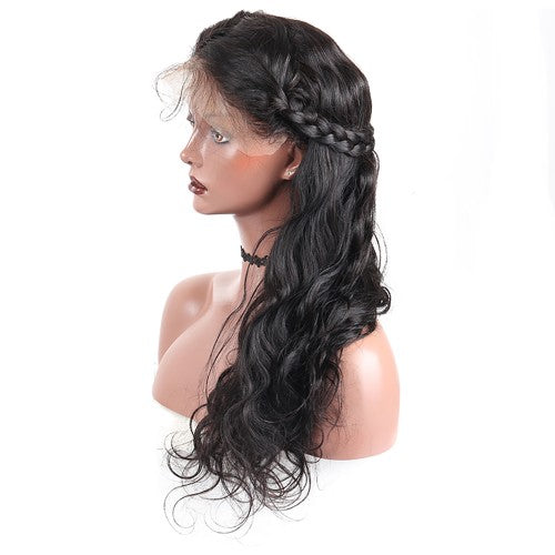 Pre-Plucked 250% Density Human Hair Body Wavy Lace Front Wigs