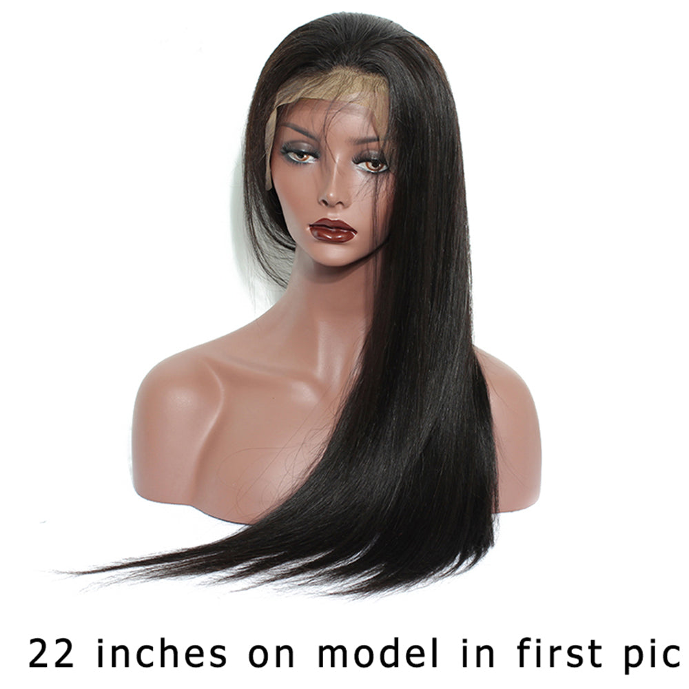 【NEW IN】	Pre-Plucked 250% Density Human Hair Straight Lace Front Wigs