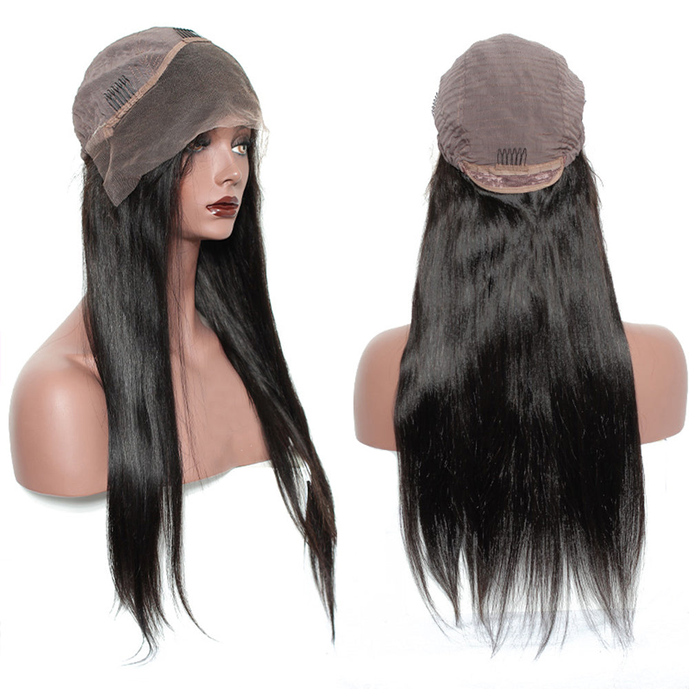 【NEW IN】Pre-Plucked 250% Density Human Hair Straight Lace Front Wigs