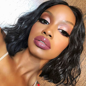 [Extra 20% Off] Pre-Plucked Brazilian Virgin Hair Natural Wavy Bob Wigs