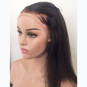 Pre-Plucked & Pre-bleached Human Hair Undetectable Transparent Lace Front Wig