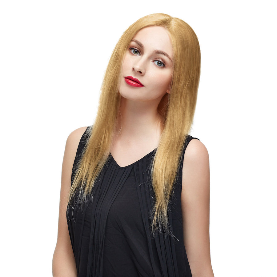 "18"" #27 Strawberry Blonde Brazilian Virgin Straight Full Lace Wig"
