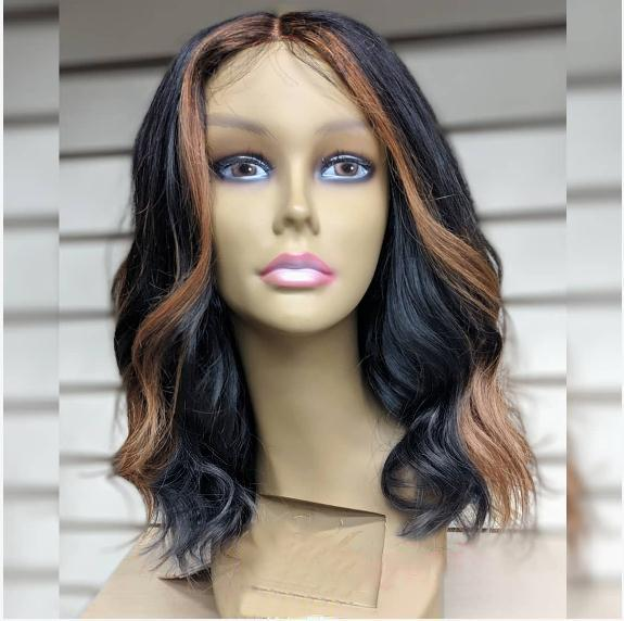 Blonde Highlight Body Wave Custom Lace Front Wigs