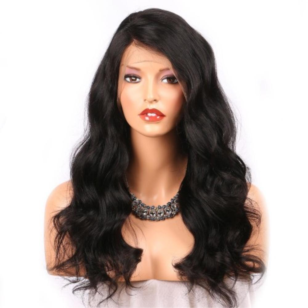 360 Lace Frontal Wig 180% Density Body Wavy Brazilian Virgin Hair