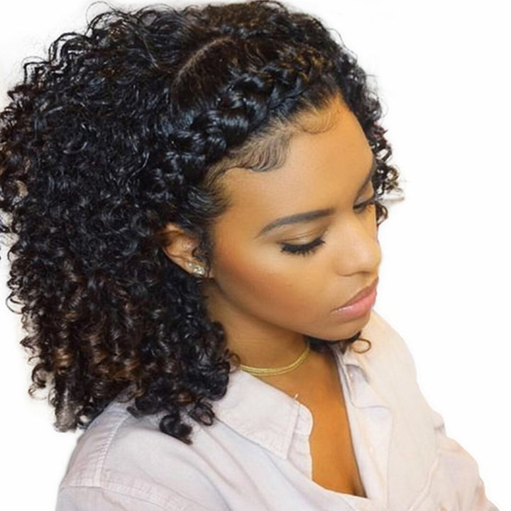 360 Lace Frontal Wig 150% Density Kinky Curly Brazilian Virgin Hair